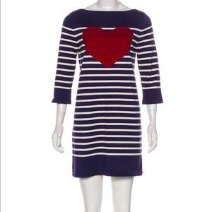 Marc Jacobs Navy And White striped Heart Dress